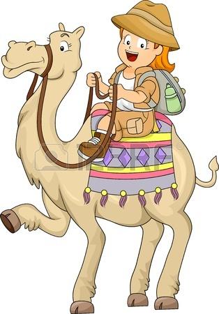 20780173-Иллюстрация-маленький-ребенок-Девочка-верхом-на-вербл