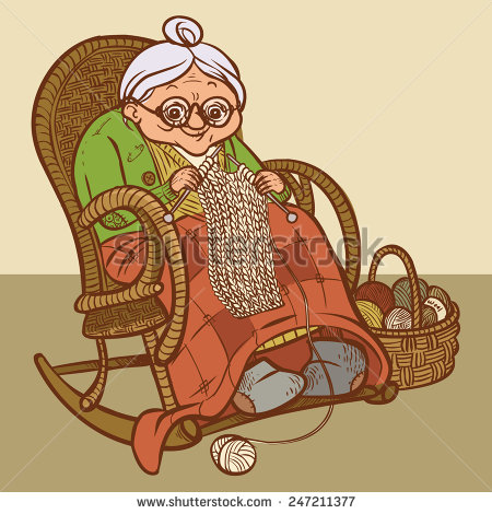 stock-vector-funny-vector-cartoon-grandmother-knits-a-scarf-247211377
